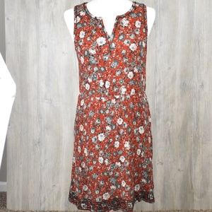 Market & Spruce Auria Embroidered Dress Red Large